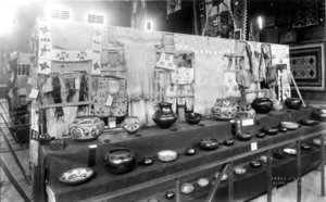 1922 Southwest Indian Fair exhibit, started by SAR, held during Fiesta