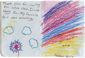 """Thank You"" Card from Acequia Madre Elementary Child"