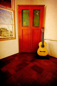 Janice Gould's Guitar in the King Residence at SAR