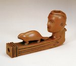 Pipe Bowl with Human Head and Beaver
