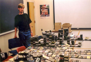Flagg Miller with Bin Laden tapes