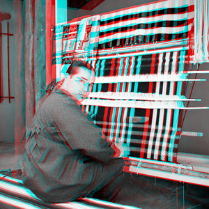 Louie García at the Loom (3-D)