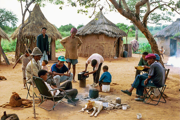 Bushmen talk about drunken family