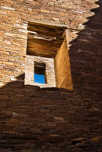 Pueblo Bonito doorways at Chaco Canyon