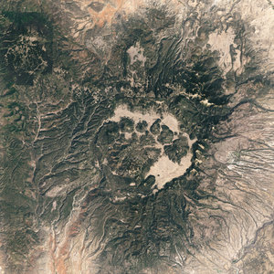 Satellite image of Valles Caldera