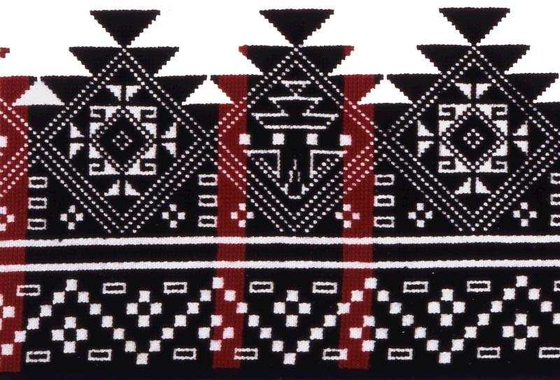 Pueblo embroidery design persistence of