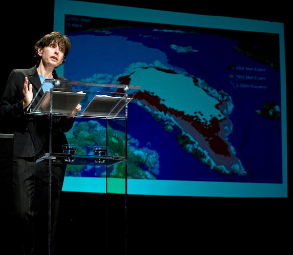 """SAR's spring 2018 public lecture speaker Elizabeth Kolbert interviewed on NPR's """"Democracy Now"""" about climate change and hurricanes Harvey and Irma"""