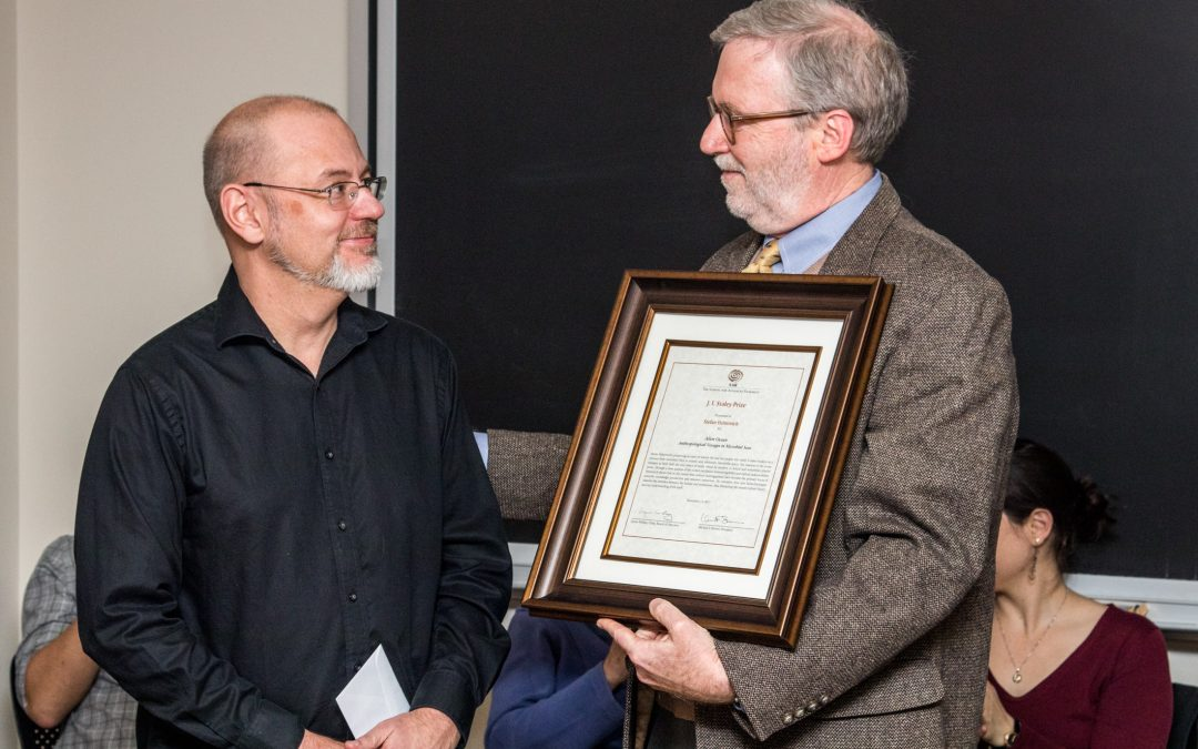 Ceremony Honoring 2017 J.I. Staley Prize Held at MIT