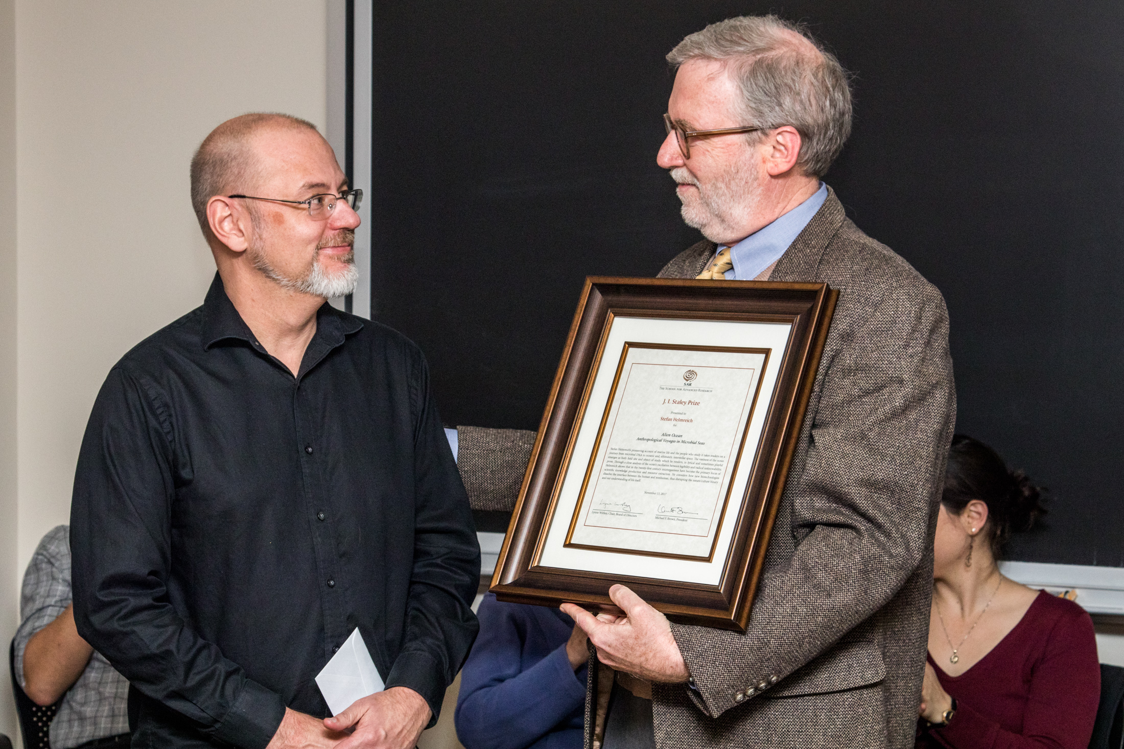 SAR President Michael Brown and Professor Stefan Helmreich