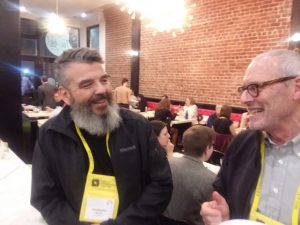 Anthropologists Chris Nelson and David Edwards at the SAR Alumni Reception. AAA Annual Meeting, 2018.
