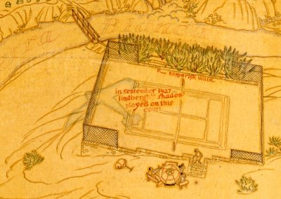 detail - Map of El Delirio (1927), now SAR's campus