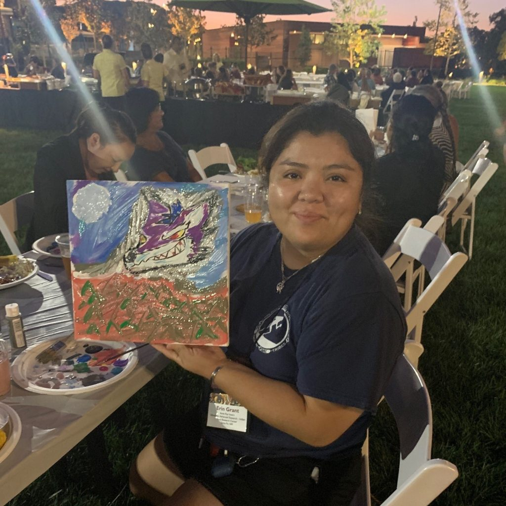 """Participating in one of the many activities for ATALM attendees. This was """"Art Rush Night."""""""