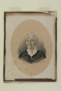 Emile Herzinger's Drawing of  Helene LaJoie LeRoux, 1863, daughter of  Maria Rosa Villalpando Sale dit Lajoie. Missouri Historical Society Collections, St. Louis.