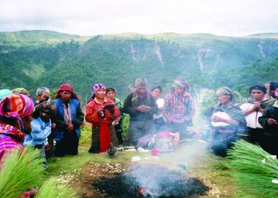 Traditionalists conduct a ceremony. Courtesy of Frederick H. Hanselmann, 2003.