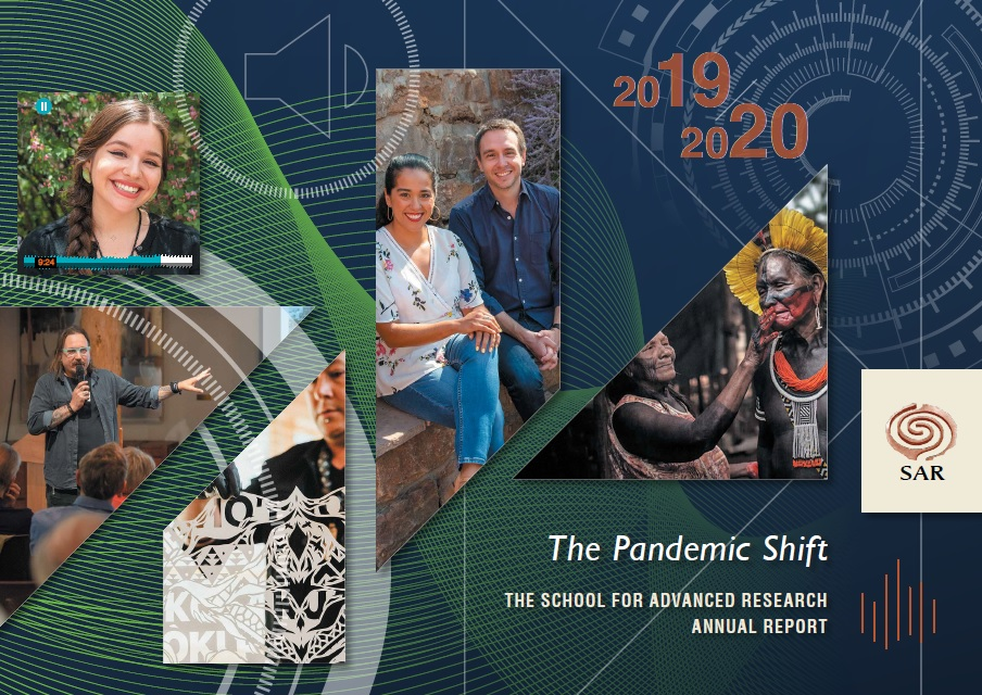 2019 2020 SAR Annual Report cover with images of scholars artists and report title The Pandemic Shift