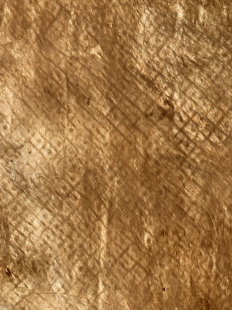 Detail of a finished kapa cloth. Image courtesy of Lehuauakea.
