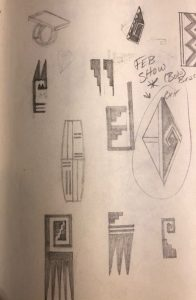 Page from Duane Maktima's 1974 Sketchbook